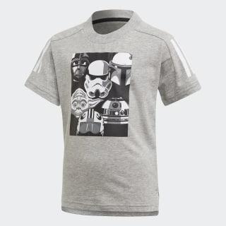 Tričko Star Wars Medium Grey Heather / Black FM2870