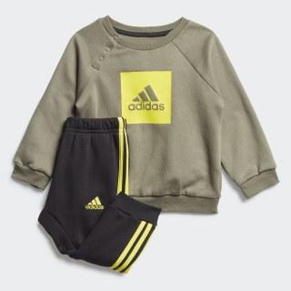3-Stripes Fleece joggingdragt Legacy Green / Shock Yellow FM6391