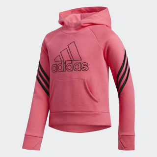 French Terry Pullover Hoodie Pink CM0456