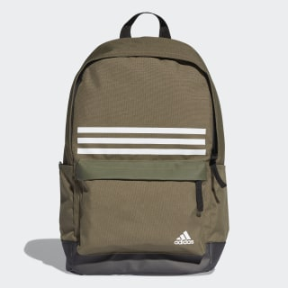 Classic 3-Stripes Pocket Backpack Green / Black / White DT2617