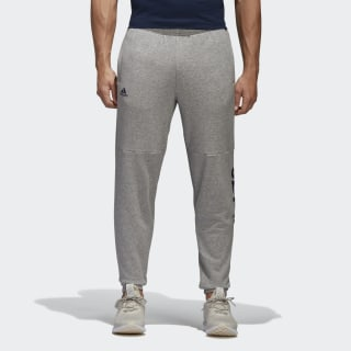 Pantalon à logo linéaire Essentials Medium Grey Heather/Collegiate Navy BQ9092