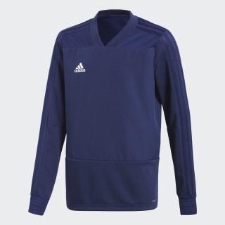 Camiseta manga larga entrenamiento Condivo 18 Player Focus Dark Blue / White CG0393