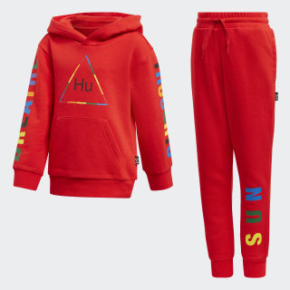 Pharrell Williams Hooded Track Suit Red FR9071