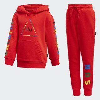 Pharrell Williams Hooded Tracksuit Red FR9071