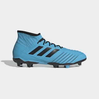 Bota de fútbol Predator 19.2 césped natural seco Bright Cyan / Core Black / Solar Yellow F35604
