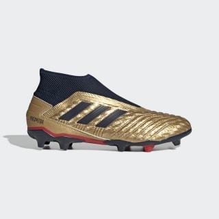 Zapatos de fútbol para superficie firme PREDATOR 19.3 LL FG ZZ Gold Met. / Collegiate Navy / Predator Red EE4236