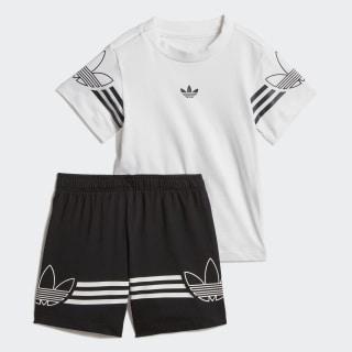 Outline T-Shirt and Shorts sæt White / Black DV2833