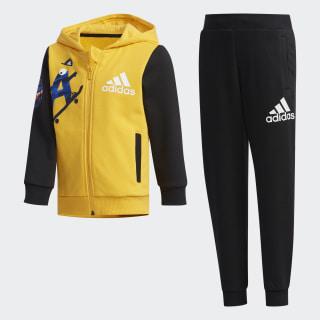 Chaqueta con capucha y pantalón Graphic Active Gold / Black EH3927