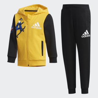 Graphic Hoodie Set Active Gold / Black EH3927