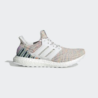 Sapatos Ultraboost Crystal White / Crystal White / Glow Green F34079