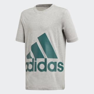 Essentials Big Logo Tee Medium Grey Heather / Noble Green DJ1754
