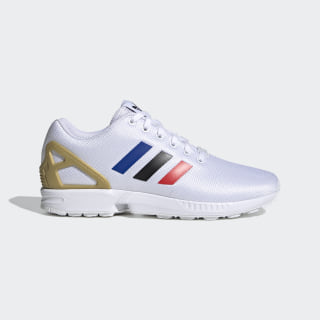 Chaussure ZX Flux Cloud White / Core Black / Team Royal Blue FV7918