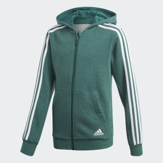Essentials 3-Stripes Hoodie Noble Green Mel / Noble Green / White DJ1745