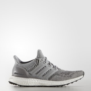 UltraBOOST Shoes Grey / Silver Metallic / Solar Red S77515