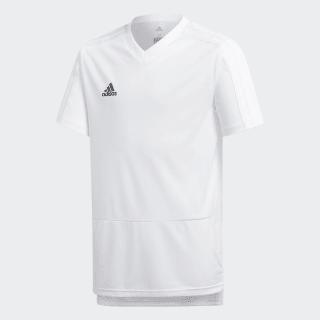 Camiseta entrenamiento Condivo 18 White / Black CG0372
