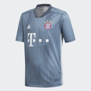 FC Bayern Third Jersey Youth Raw Steel / Utility Blue / White DP5451