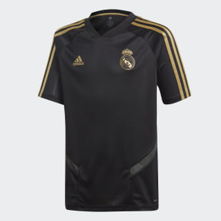 Maillot d'entraînement Real Madrid Black / Dark Football Gold DX7850