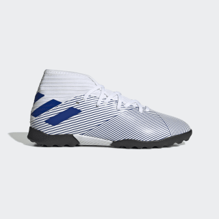 Zapatilla de fútbol Nemeziz 19.3 moqueta Cloud White / Team Royal Blue / Team Royal Blue EG7235