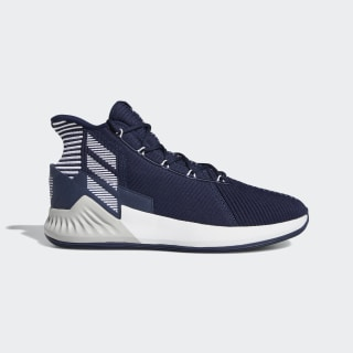 D Rose 9 Shoes Collegiate Navy / Cloud White / Silver Metallic G27788