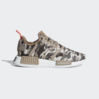 NMD_R1 Shoes Clear Brown / Clear Brown / Solar Red G27948