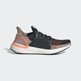 Zapatilla Ultraboost 19 Core Black / Crystal White / Solar Orange G54017