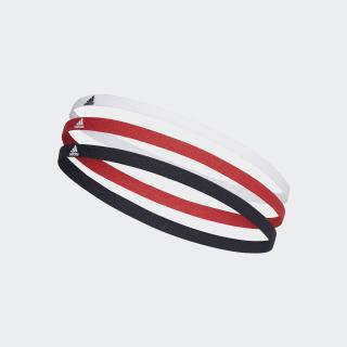 Confezione da 3 fasce per capelli Legend Ink / White / Glory Red FM0216