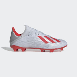 X 19.3 Firm Ground Cleats Silver Metallic / Hi-Res Red / Cloud White F35382