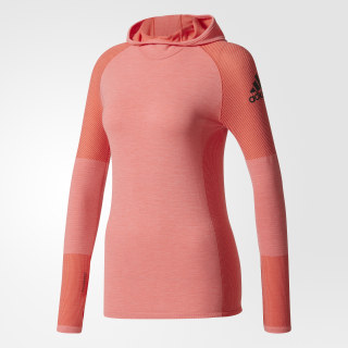 Playera Climaheat Primeknit Hooded Easy Coral / Black BR6818