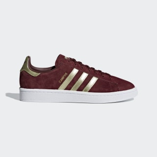 Sapatos Campus Collegiate Burgundy / Gold Met. / Ftwr White B37941