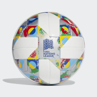Мини-мяч Nations League white / silver met. / multicolor CW5263