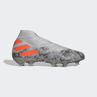 Botas de Futebol Nemeziz 19+ – Piso firme Grey Two / Solar Orange / Chalk White EF8280