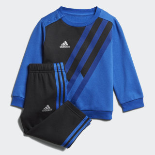 Conjunto Mini Me X Crew BLUE/BLACK/COLLEGIATE ROYAL/SILVER MET. BLACK/BLUE/SILVER MET. DJ1563