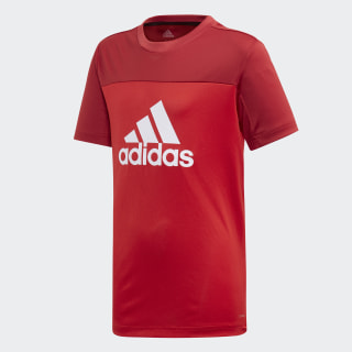 Playera Equipment Scarlet / Active Maroon / White ED6344