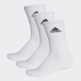 Performance İnce Yarım Boy Çorap - 3 Çift White / White / Black AA2329