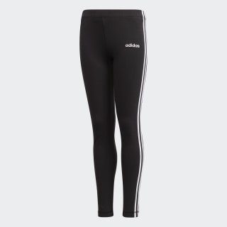 Calça Legging Essentials 3-Stripes Black / White DV0367