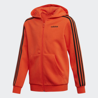 Jaqueta Capuz Essentials 3-Stripes active orange / black DW9710