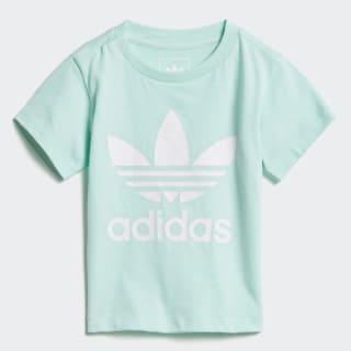 Trefoil T-shirt Clear Mint / White D96101