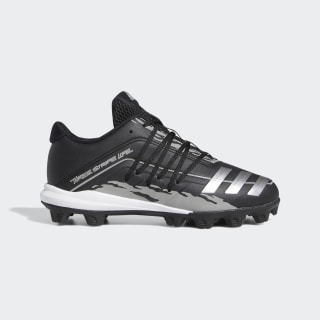 Afterburner 6.0 Molded Speed Trap Cleats Core Black / Silver Metallic / Solid Grey EG9214