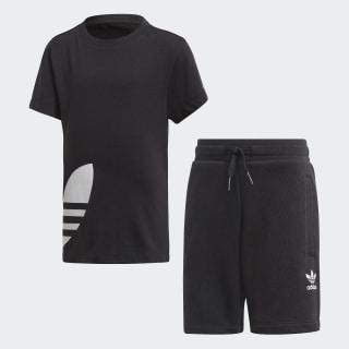 Big Trefoil Shorts Tee Set Black / White FM5617