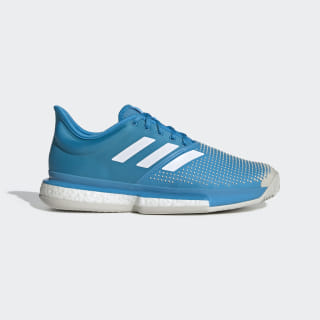 SoleCourt Boost Clay Schuh Shock Cyan / Ftwr White / Raw White DB2690