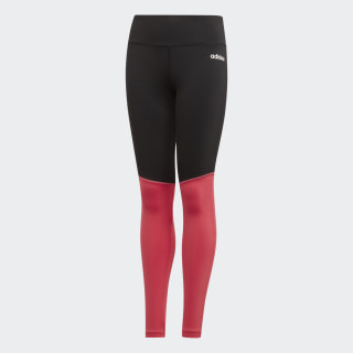 Licras YG C Long Tight black/REAL PINK S18/white EH6132