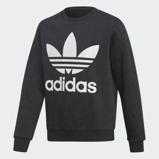Fleece Crew sweatshirt Black / White DH2705