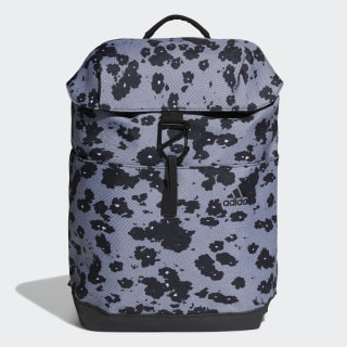 Flap ID Graphic Backpack Black / White DX0036