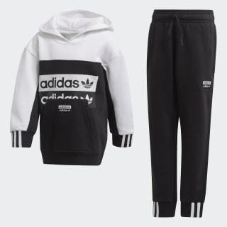 Комплект: худи и брюки Black / White FM7603