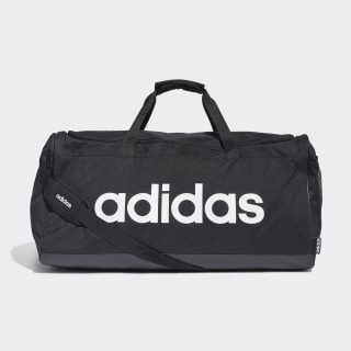 Linear Logo Duffelbag L Black / Black / White FM2400