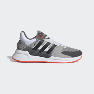 Run 90s Shoes Grey Two / Core Black / Solar Red EE9871
