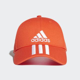 หมวก Six-Panel Classic 3-Stripes Active Orange / White / White DZ9320