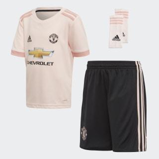 Комплект: футболка и шорты Манчестер Юнайтед icey pink f17 / trace pink f17 / black CG0062