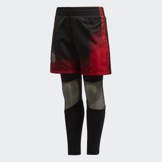 Conjunto de Shorts y Mallas Star Wars BLACK/VIVID RED DI0201