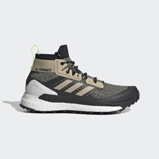 Chaussure de randonnée Terrex Free Hiker Savannah / Core Black / Signal Green EF2156